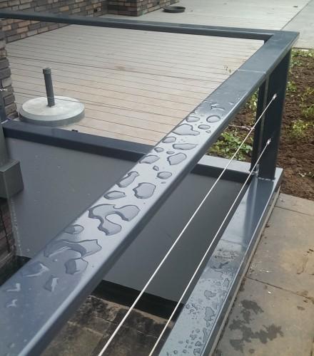 Balustrade met rvs kabel